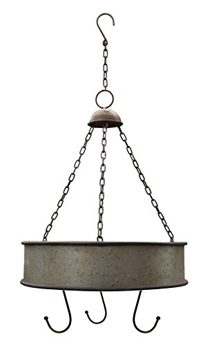Rustic Metal Round and Round Hanging Pot Rack