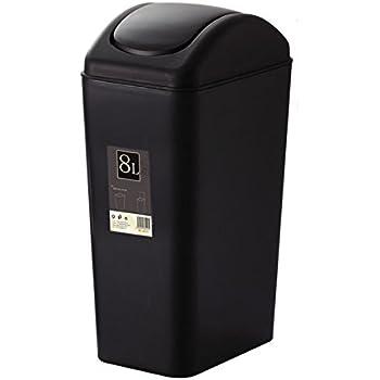 Amazon Com Plastic Trash Can Swing Lid Kitchen Bathroom