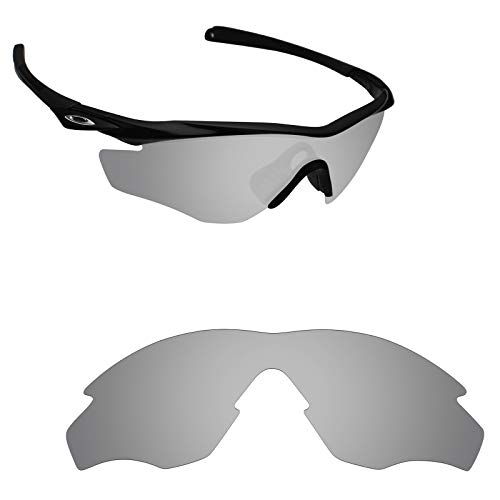 Alphax Silver Titanium Polarized Replacement Lenses for Oakley M2 Frame XL
