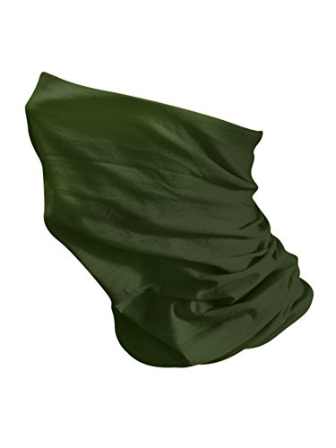 Olive Green MKR Motorcycle Motorbike Cycling Lightweight Neck Warmer Tube Balaclava Scarf Snood