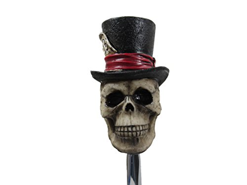 (Lucky 13 Tall Top Hat Skull Head Shifter Shift Knob Rat Rod Lever)