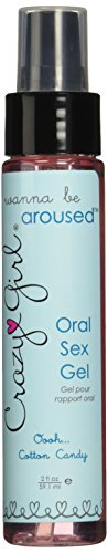 Classic Erotica Crazy Girl Oral Sex Gel, Cotton Candy, 2 Ounce