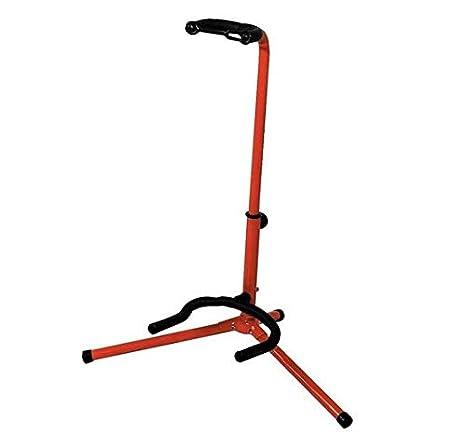 BSX A-Style - Soporte para guitarra acústica y eléctrica, color rojo: Amazon.es: Instrumentos musicales