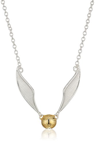 Harry Potter Two Tone Golden Snitch Pendant Necklace