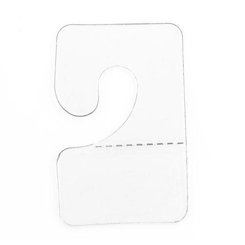 Clear Hook Hang Tabs Slatwall Adhesive Hangers (Pack of 100)