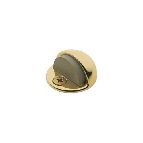 (Baldwin 4000.030 Floor Type Half Dome Door Bumper, Polished Brass - Lacquered )