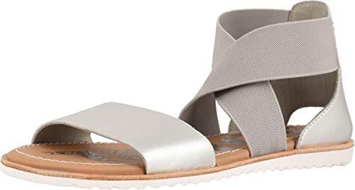 SOREL Women's Ella Sandal Pure Silver 11 B ()