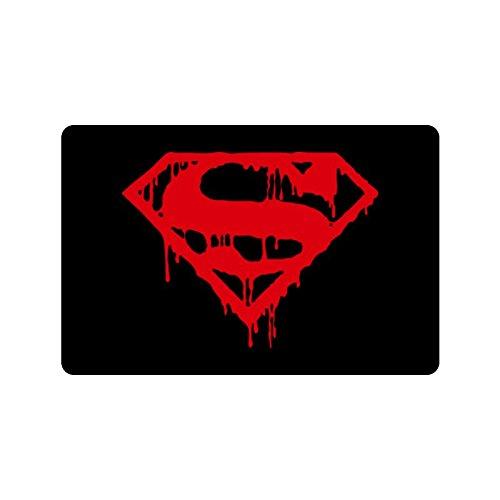 [HAYT Superman Logo Custom Design Doormats Outdoor Indoor Stairs Bath Front Door Small Rug Machine-Washable Neoprene Rubber Doormat 23.6