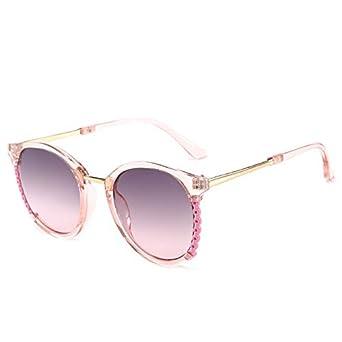 ANSKT Gafas de sol huecas, montura transparente, degradado ...
