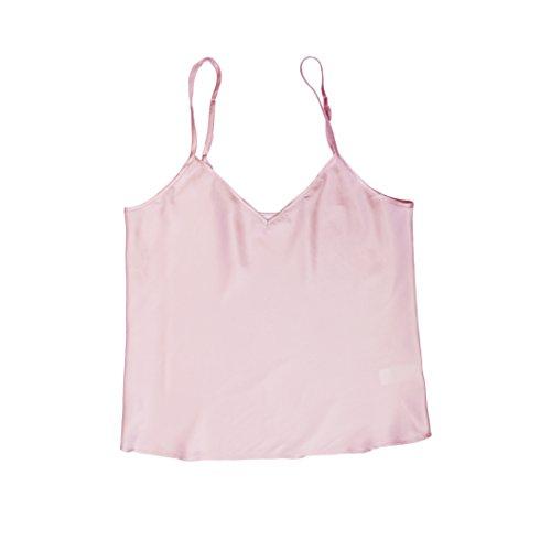 Pure Soie Jasmine Silk Camisole Nuisette Top Vest Rose