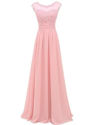 Still Waiting Women's Lace Bridesmaid Dress Long Prom Evening Dress Gowns Beads Appliques Dresses For Wedding XY066