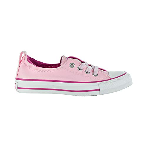 Converse Women's Chuck Taylor All Star Shoreline Linen Slip On Sneaker, Pink Foam/Active Fuchsia/White 5.5 M US]()