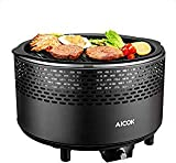 Aicok Portable Smokeless Charcoal Grill, BBQ Grill, Compact Barbecue...
