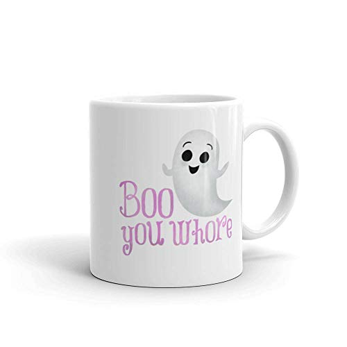 Boo You Whore - Mean Girls Movie Lover Quote Regina George Glen Coco The Plastics Halloween Pun Ghost Coffee Mugs ()
