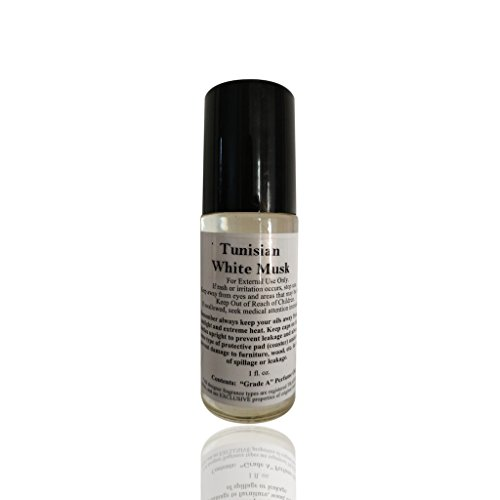 Tunisian White Musk (Unisex) Type Designer Fragrance Body Oil 1 Oz Roll-on Bottle