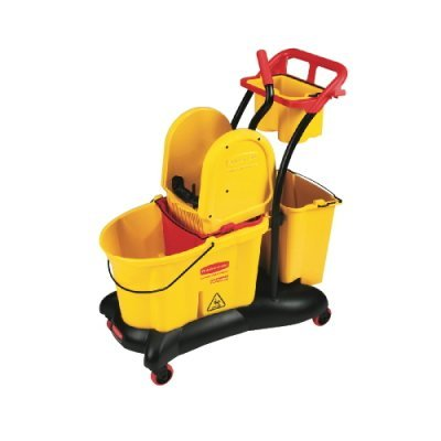 RCP7777YEL WaveBrake Mopping Trolley Down-Press Bucket/Wringer Combo, 8.75 gal, Yellow by RCP7777YEL