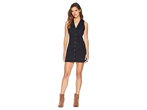 Free People Women's Wandering Star Denim Mini Dress Black 8 (Mini Denim Star)