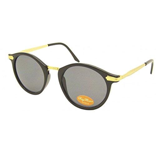 De Soleil net John Vintage Orné Lennon Style Métal Lunettes Chic Aviateur Gris Golden Rond YPHqdwwX