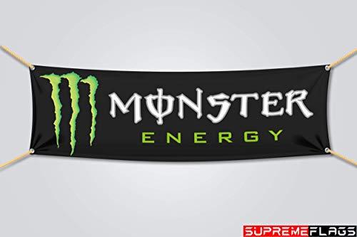 Monster Energy Drink Flag Banner Promo Advertising Bar Man Cave (18x58 in)