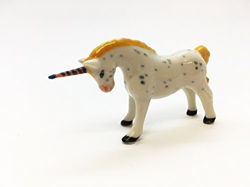 Unicorn Horse Ceramic Handmade Figurine Animals Miniature for sale  Delivered anywhere in USA