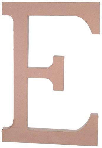 23.5 Inch Paper Mache Letter - Darice 2860-E Paper Mache, 23.5-Inch, Letter E