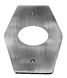 - Westbrass D503-01 1-Hole Remodel Plate for Mixet, PVD Polished Brass