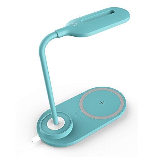 Cargador inalámbrico de lámpara de mesa LED, control táctil ...