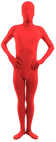Marvoll Unisex Lycra Spandex Full Body Zentai Suit for Kids and Adults (Large, Red) (Unisex Toys)
