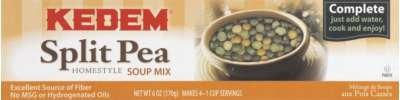 Kedem Split Pea Soup Mix 6 Oz (Pack of 24)