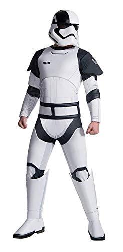 Rubie's Star Wars Episode VIII: The Last Jedi Uni-Sex Deluxe Executioner Trooper Costume  White/Black  Standard ()