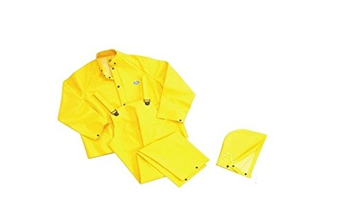 Bata Shoe (Bata Shoe 76034-3X Onguard Industries 3X Yellow Webtex PVC And Non Woven Polyester Rain Jacket With Storm Flap Front Zipper Closure And Attached Hood, English, 15.34 fl. oz., Plastic, 1