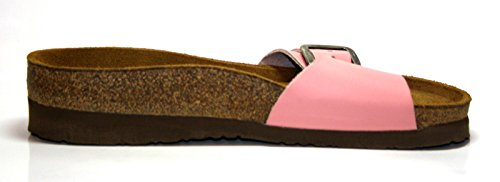 Naot - Plataforma de cuero mujer rosa - Pink (Blush)