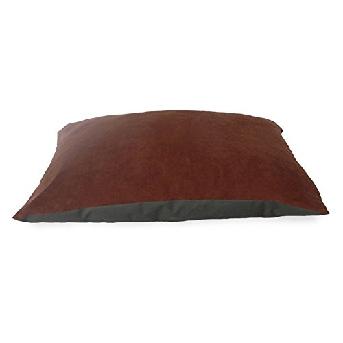 NAP Pet Bed Suede and Oxford Pet Pillow Bed, Espresso, 35-In