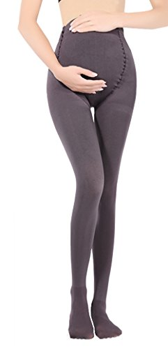 Cimary Pregnant Women Maternity Pantyhose Opaque Tights ,Gray ,One Size