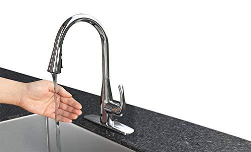 FLOW Motion Sensor Kitchen Faucet | Original Touchless Design | Brushed Nickel Finish | Dual Spray Head | Easy DIY Install | Battery Powered | Bio Bidet by BioBidet (Image #2)