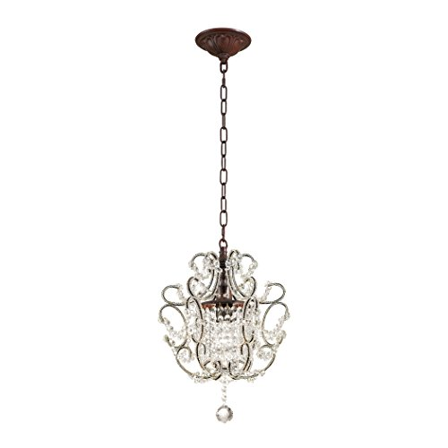 Elise Pendant 1 Light - Alumbrada Collection Elise 1 Light Pendant In Rust And Clear Crystal