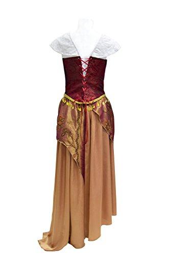Xiao Maomi Women Musical Drama Opera Phantom Cosplay Costume Christine Masquerade Gothic Gown Corset Red Long Dress (US Women-L, Red)]()