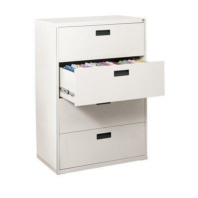 Sandusky Lee E204L-22 400 Series 4 Drawer Lateral File Cabinet, 18