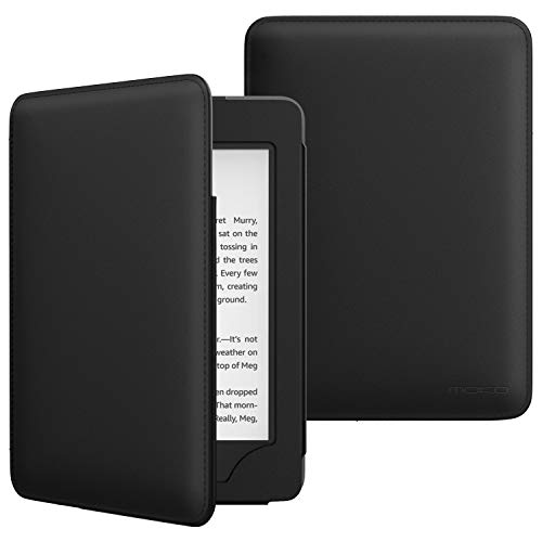 MoKo Case Compatible with Kindle Paperwhite (10th Generation, 2018 Releases), Shockproof Slim Smart Shell Cover for Amazon Kindle Paperwhite 2018 E-Reader - Black