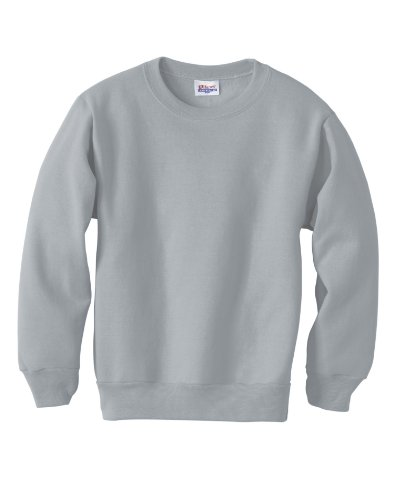 Hanes ComfortBlend Youth Crewneck Sweatshirt 7.8 oz, L-Light Steel - Design Kids Crewneck Sweatshirt