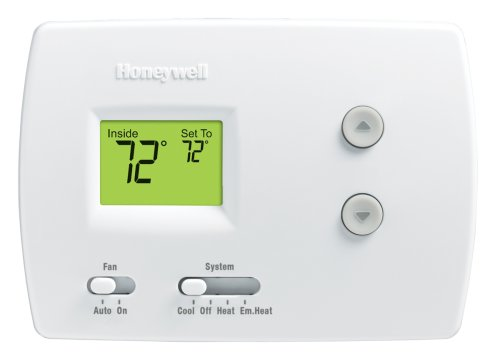Honeywell RTH3100C1002/E1 Digital Heat/Cool Pump Thermostats (Programmable Thermostat For Heat Pump With Auxiliary Heat)