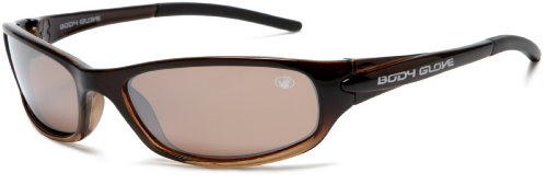 Body Glove QBG1021 Polarized Sport Sunglasses,Brown to Tan Fade Frame/Brown Lens,one - Body Polarized Sunglasses Glove