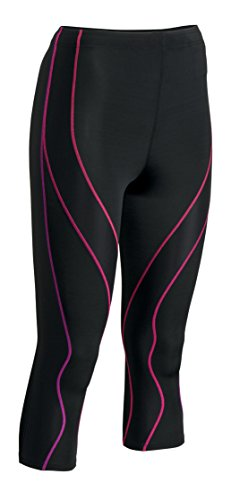 CW-X Conditioning Wear Women's 3/4 Performx Tights, X-Small, Black/Purple Gradation by CW-X (Image #1)