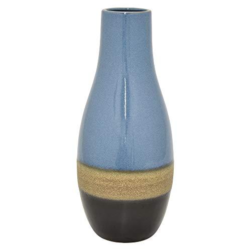 Amazon Three Hands 40295 Ceramic Vase Blue Home Kitchen