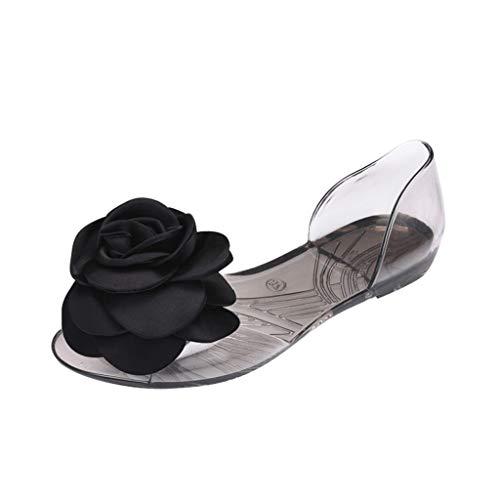 YKARITIANNA Women Summer Open Toe Jelly Slip On Shoes Big Floral Fish Mouth Beach Sandals 2019 Summer New Black