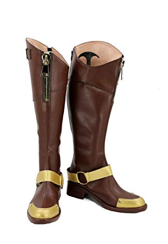 GOTEDDY Girl Ruby Cosplay Boots Halloween Anime Leather Shoes Costume Accessories