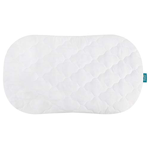 Bassinet Mattress Pad Cover, Oval/Hourglass, Waterproof and Soft, Just a Cover, Fits for Halo Bassinest Swivel Sleeper Mattress Perfectly. (Mattress Waterproof Bassinet Pad)