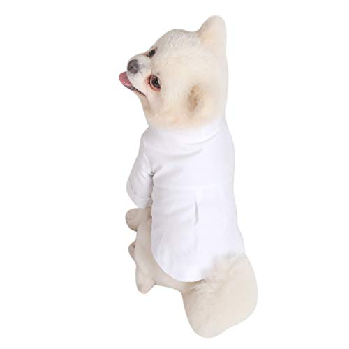 khdug❤ Pet Dog & Cat Shirt,New Pet Costumes Spring and Fall Breathable Love Print Simple Slim Fit Shirt ()