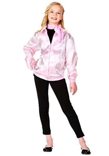 Kid Grease Halloween Costumes (Pink Ladies Jacket Girls Grease Kids Costume)