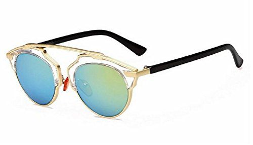 GAMT New Fashion Cateye Polarized Sunglasses For Women Classic Style (Gold (My Candy Love 16)